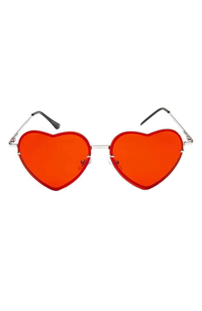 Tinted Heart Shaped SunglassesRAD + REFINED $68.00
