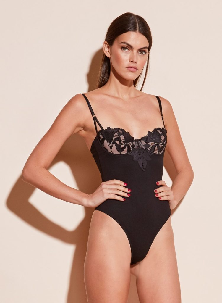 LILY EMBROIDERY BALCONETTE BODYSUIT$325.00