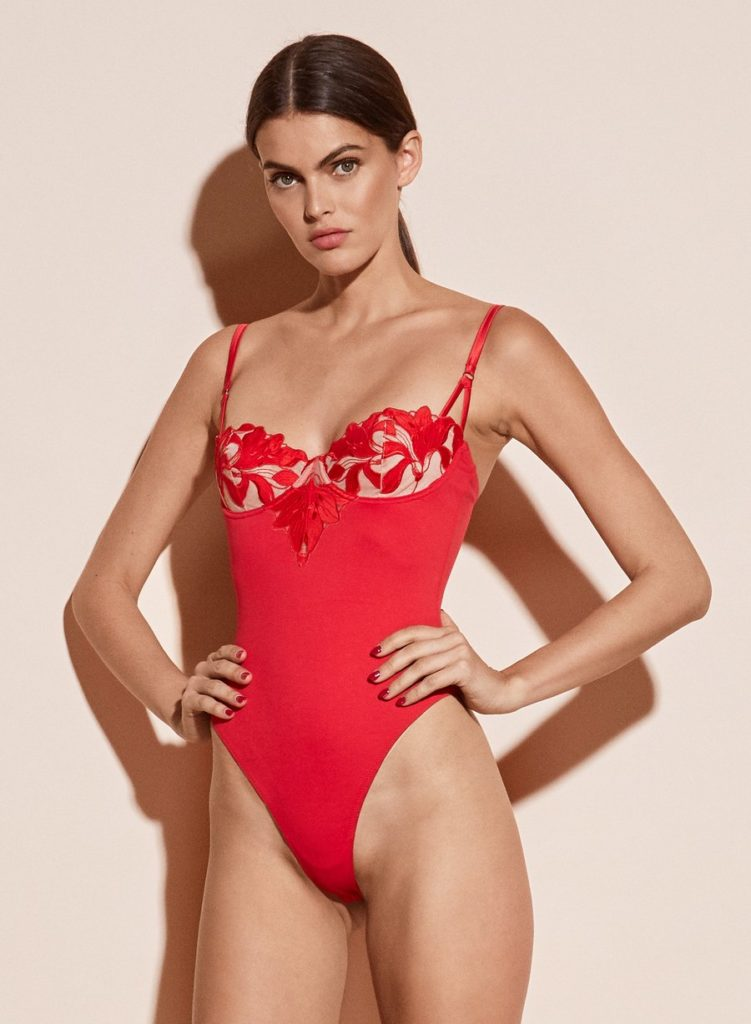 LILY EMBROIDERY BALCONETTE BODYSUIT $325.00