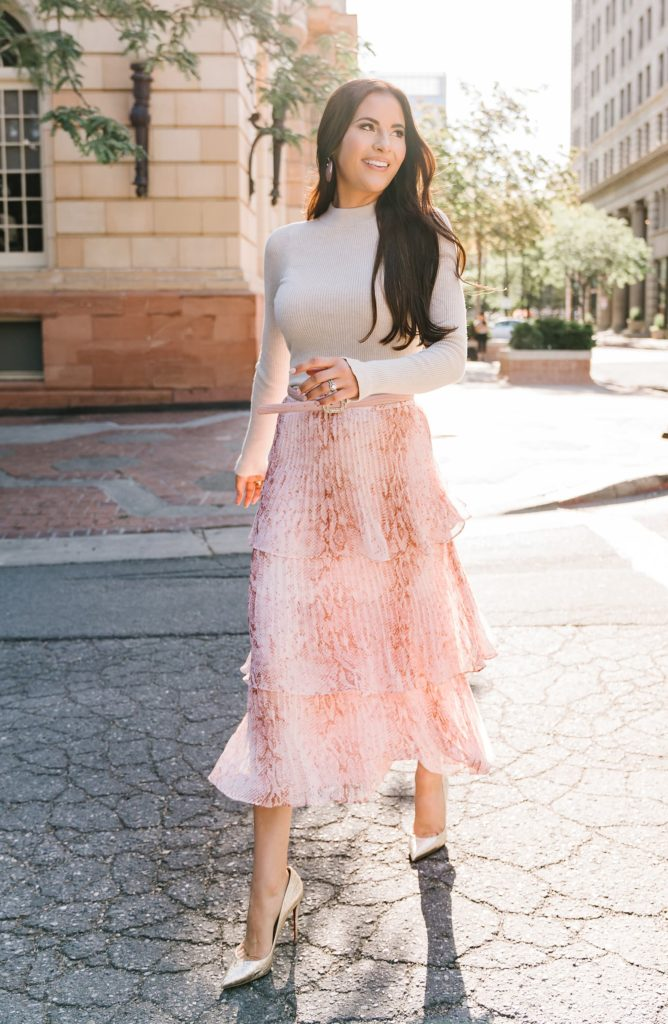 Tiered Pleated Skirt RACHEL PARCELL $77.40
