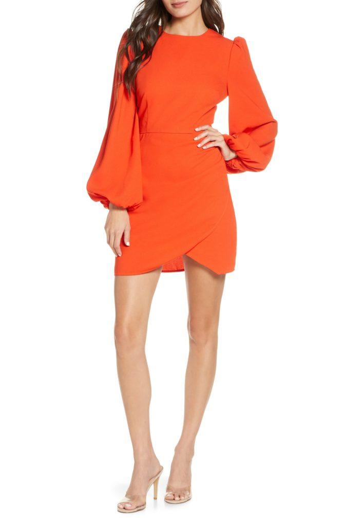Chains Back Cutout Long Sleeve Minidress FINDERS KEEPERS $155.00