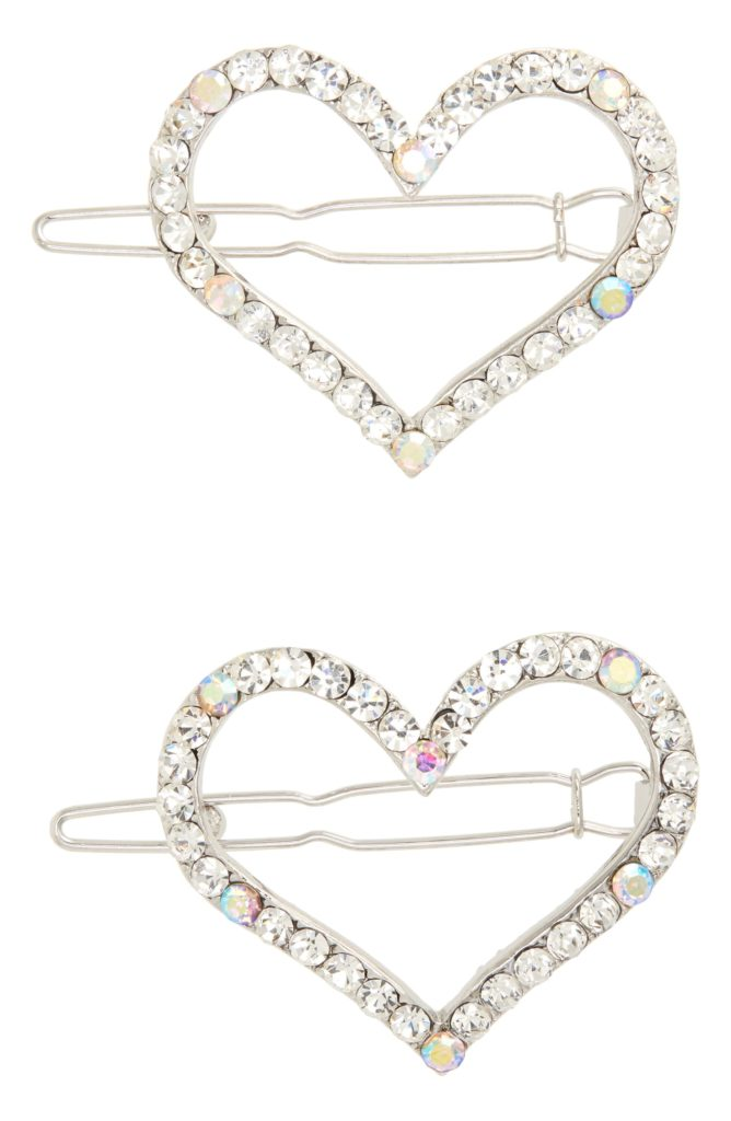 2-Pack Heart Crystal Hair Clips $26.00