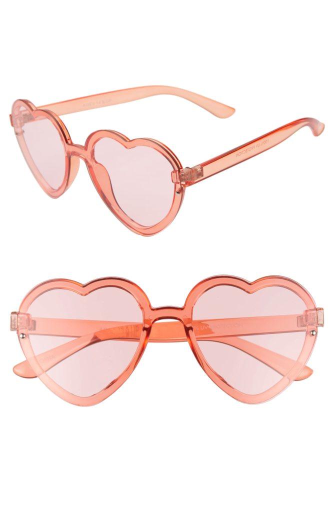 52mm Flat Front Heart Shape SunglassesBP. $19.00