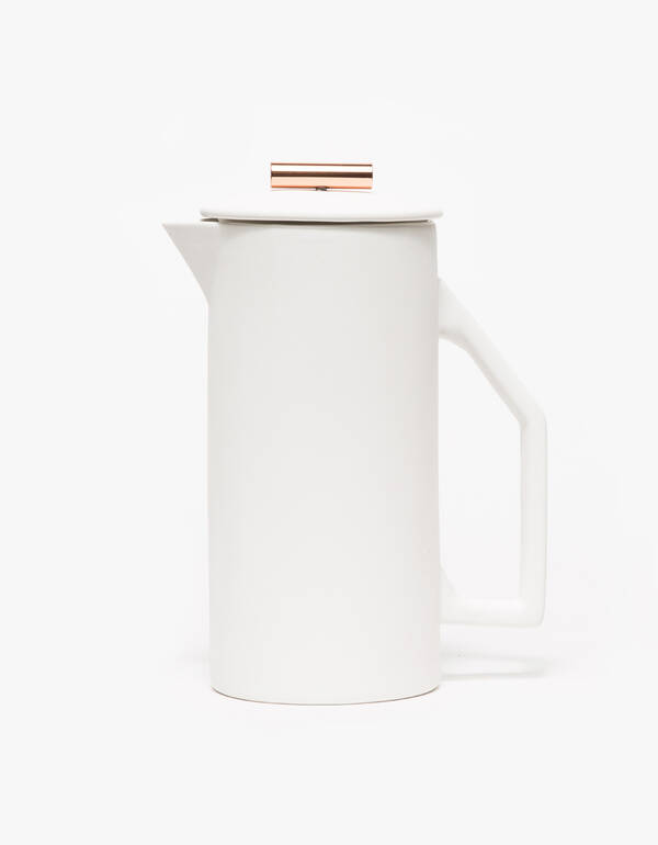 Yield Design Ceramic French Press in Cream $120.00