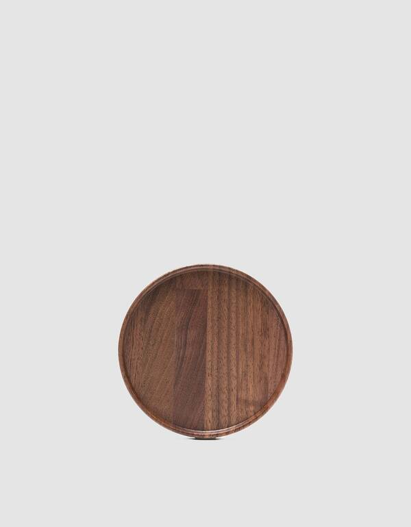 Hasami Porcelain 5⅔ in. Round Tray in Walnut $45.00