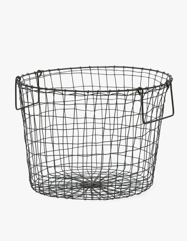 Fog Linen Large Round Basket $52.00