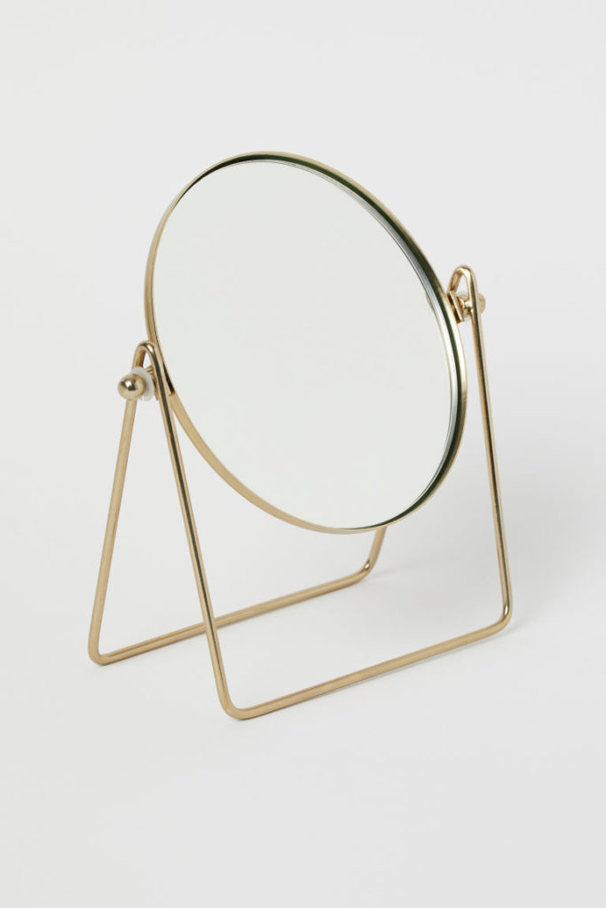 Metal Table Mirror $12.99