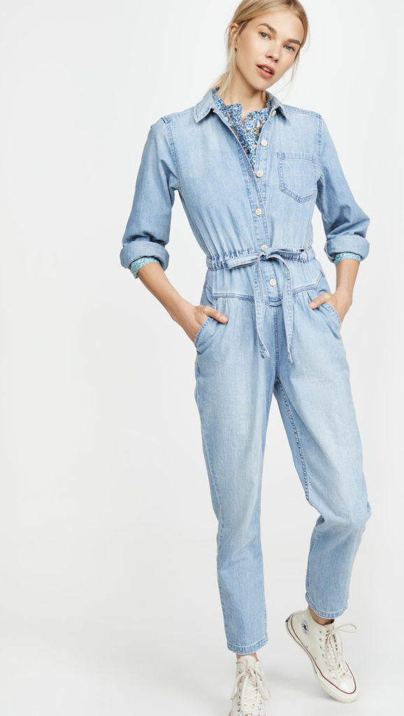 Long Sleeve Drapey Denim Jumpsuit $375.00