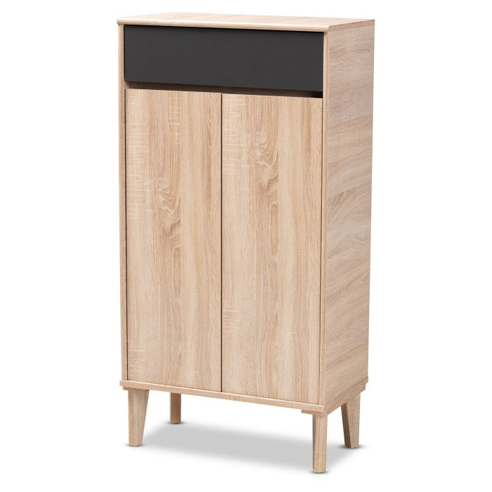 Baxton Studio Fella Entryway Shoe Cabinet with Drawer $149.16