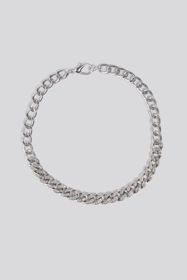 Matte Sparkling Chain Necklace $14.95