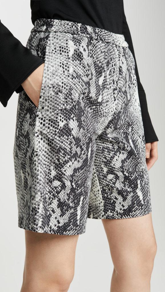 No. 21 Snake Print Shorts $360.00