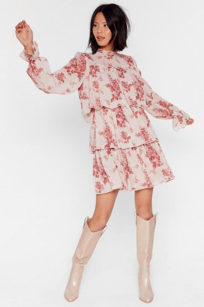 Tier We Are Floral Mini Dress $31.50