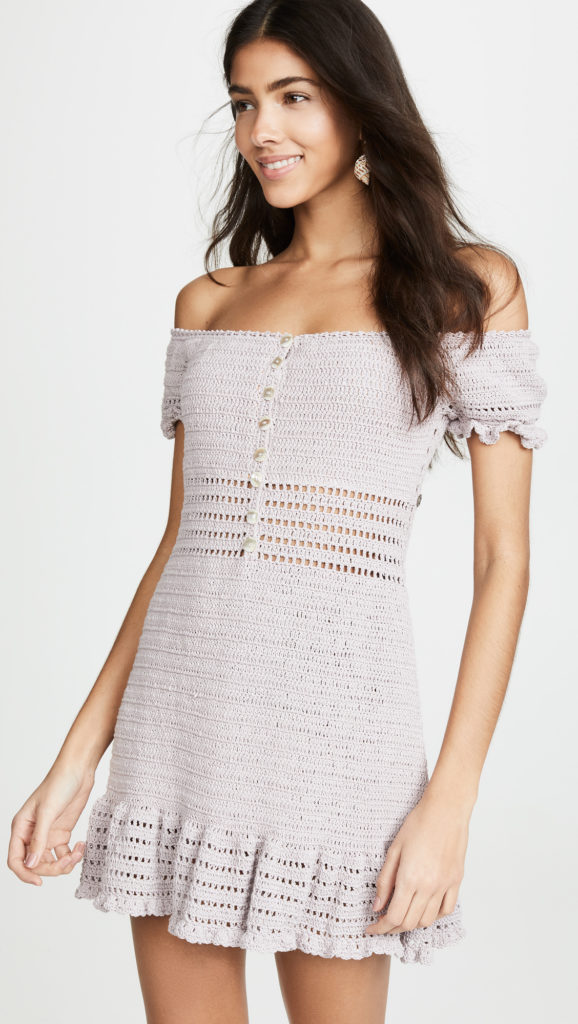 She Made Me Crochet Off the Shoulder Dress $115.50