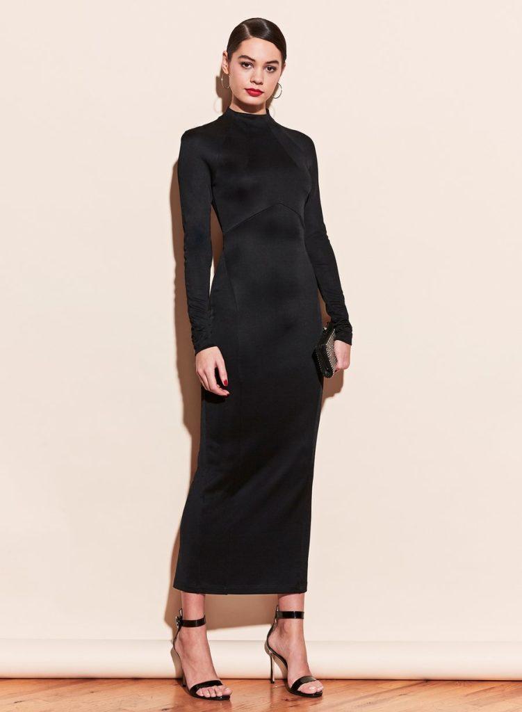 BLACK SLINKY LONG DRESS $545.00