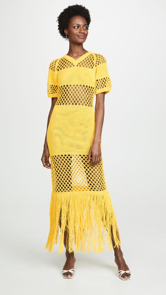 Sonia Rykiel Fishnet V Neck Dress$417.00