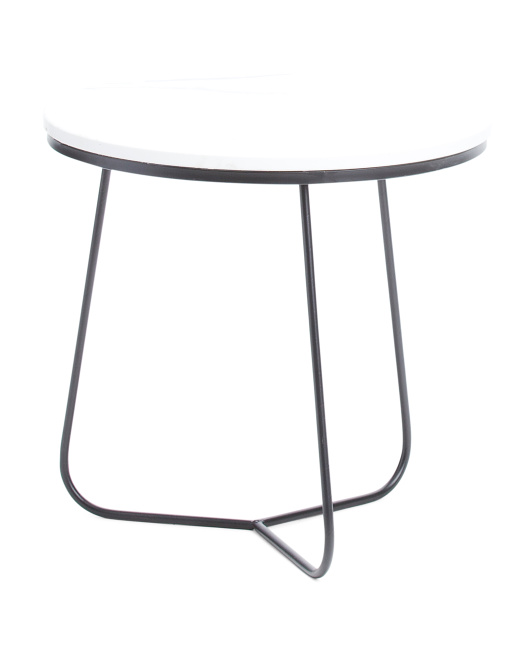 THREE HANDS Marble Outdoor Table $59.99