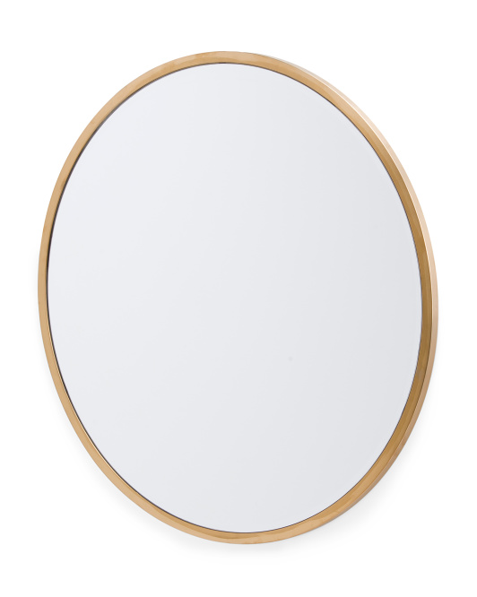 RACHEL RACHEL ROY 31in Round Brass Mirror $99.99