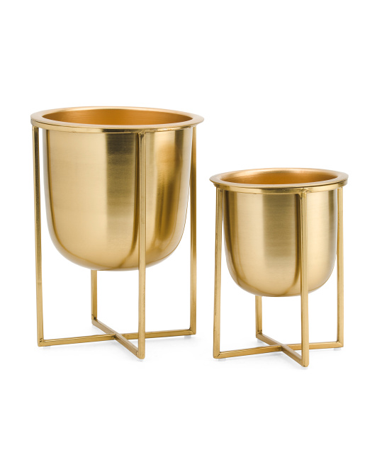 SAGEBROOK HOME Set Of 2 Metal Planters$29.99