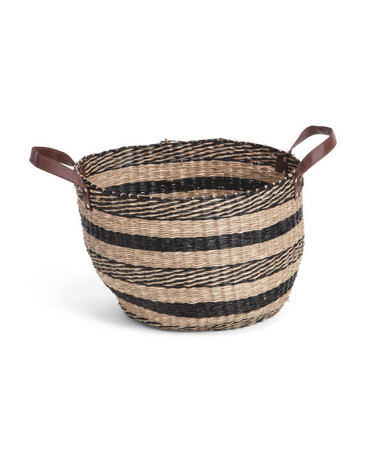 MADE IN VIETNAM Medium Natural Seagrass Round Basket $14.99