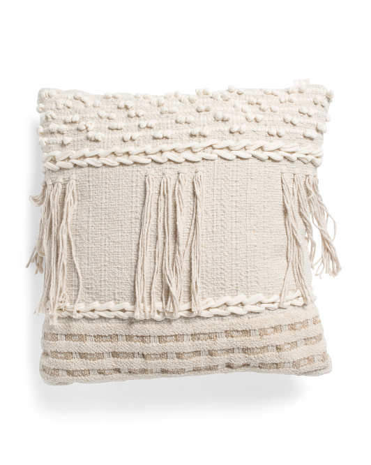 PATINA VIE 20x20 Textured Tassel Pillow $19.99