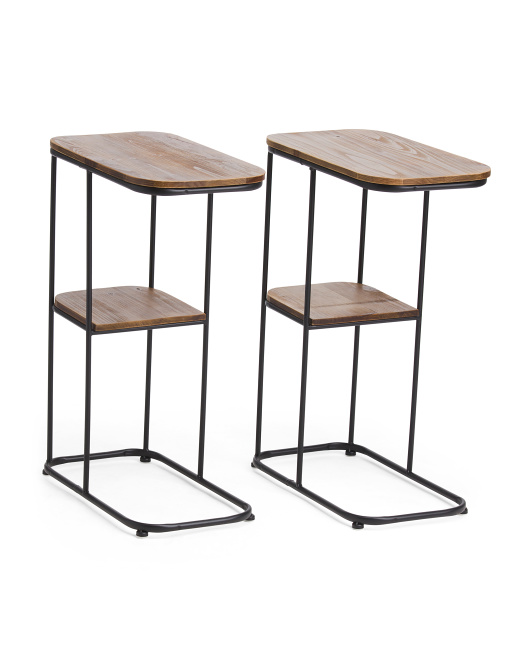 THREE HANDS Set Of 2 C Tables $79.99