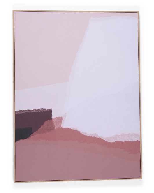 MIDDLE OF NOWHERE30x40 Torn Blush Canvas Wall Art$59.99