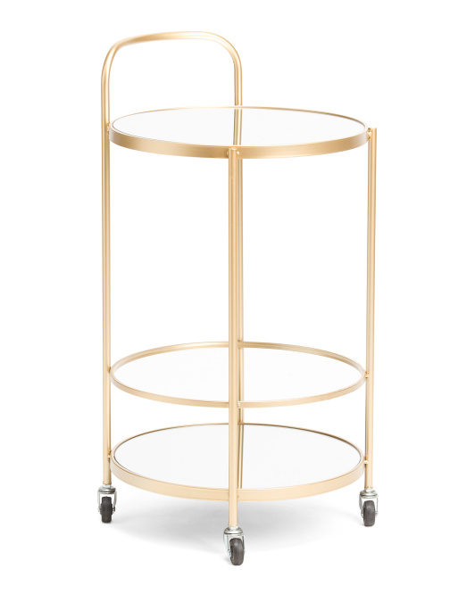 THREE HANDS Mirrored Plant Stand $79.99