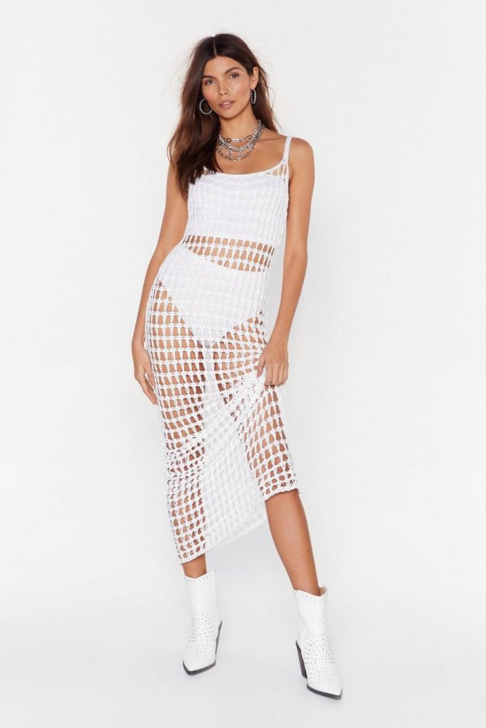 Did It Our Crochet Strappy Maxi Dress$27.00