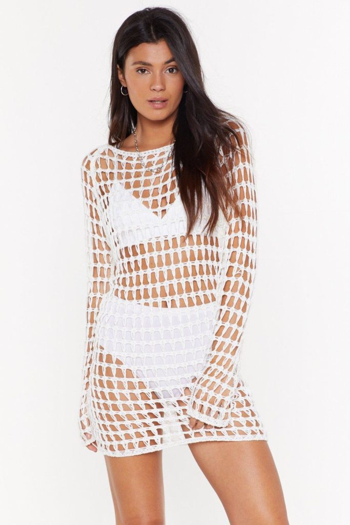 Hole With the Punches Crochet Mini Dress $35.00https://fave.co/38Dei1r
