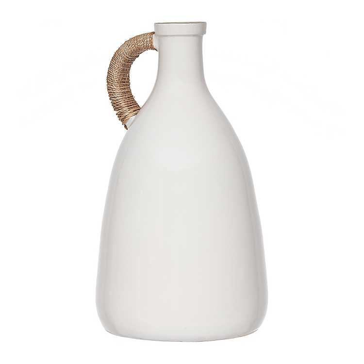 White Jug Vase with Rope Handle $59.99