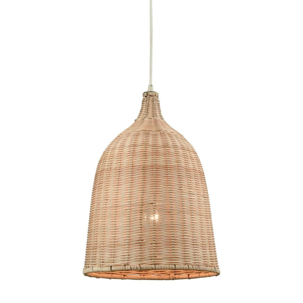 "Pleasant Fields Single Light 12"" Wide Pendant with Natural Wicker Shade $234.00"