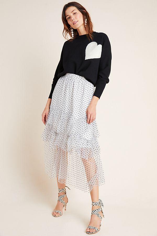 Lukjana Tiered Tulle Maxi Skirt $168.00