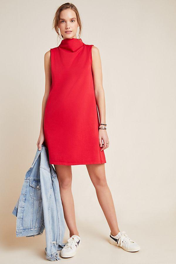 Fiona Mock Neck Petite Mini Dress$140.00
