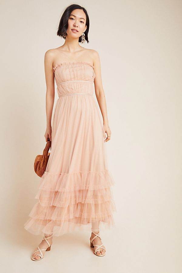 Graciela Tiered Tulle Maxi Dress $198.00