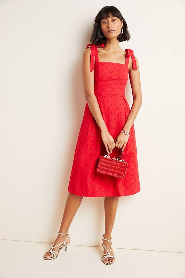 Kari Eyelet Midi Dress$178.00