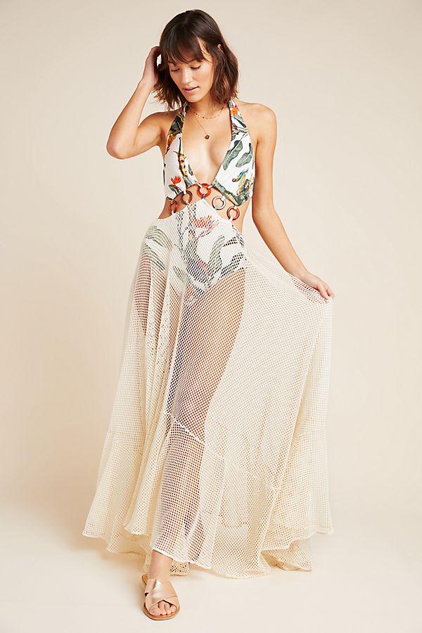 PatBO Tropical One-Piece Swim Dress $695.00