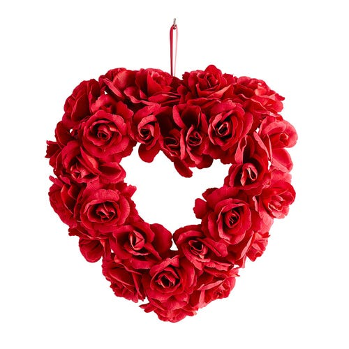 Red Roses Heart Shaped Wreath $31.99