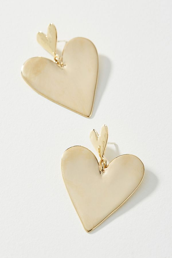 Luiny Heart Drop Earrings $188.00
