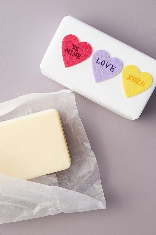 George & Viv Candy Hearts Bar Soap$9.00https://fave.co/3bcTG20