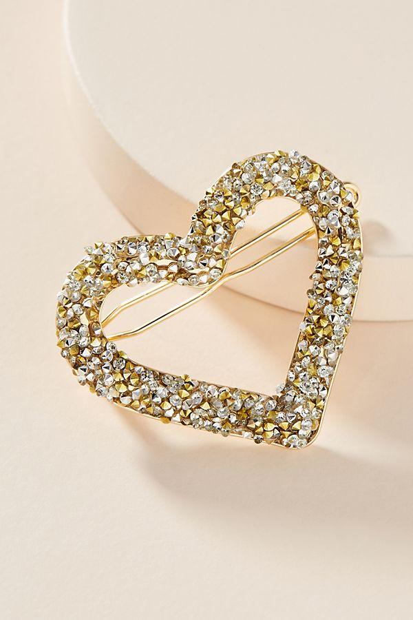 Embellished Heart Hair Clip $18.00