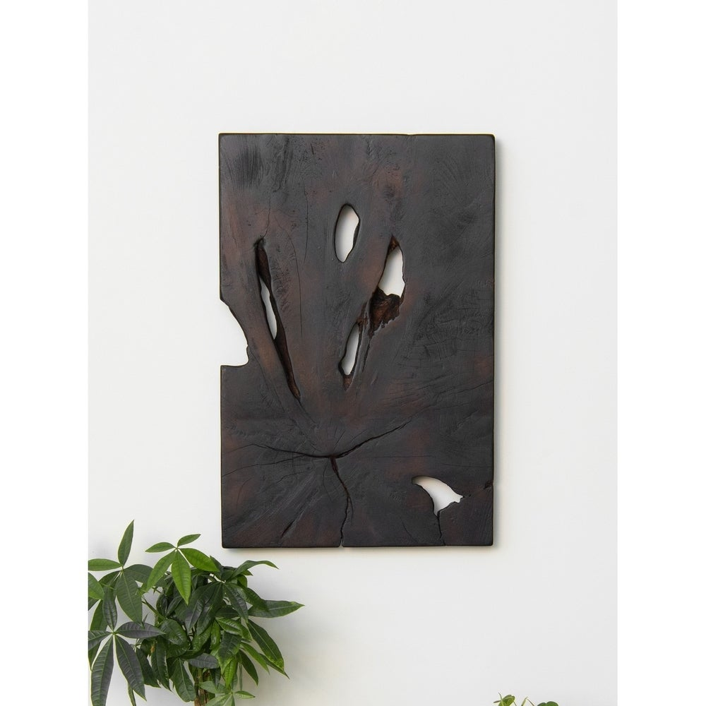 Aurora Home Sliced Teak Root Wall Art - Black $137.49