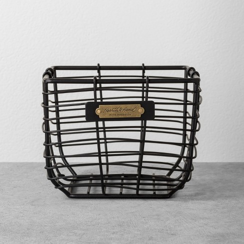 Wire Bin Black - Hearth & Hand™ with Magnolia $17.99
