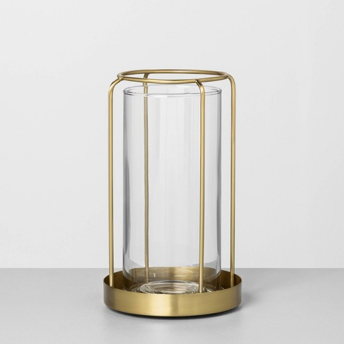 Glass / Metal Vase Brass - Hearth & Hand™ with Magnolia $19.99