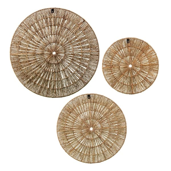 The Curated Nomad Terraza Woven Seagrass Wall Decor (Set of 3) $131.99
