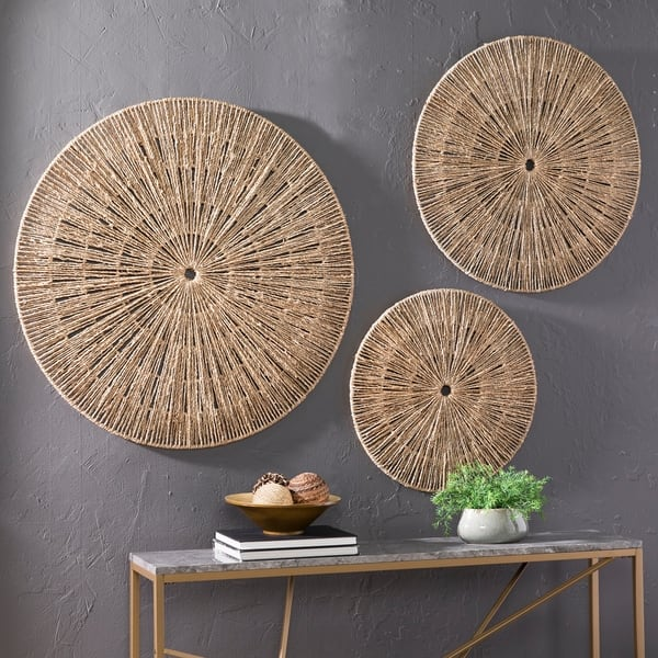 The Curated Nomad Terraza Woven Seagrass Wall Decor (Set of 3) $131.91
