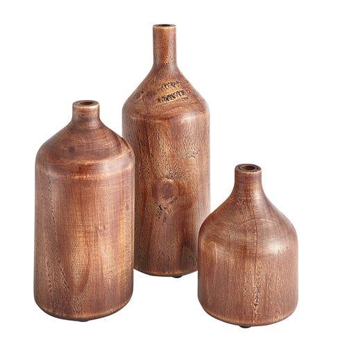 Wooden Vases $11.24-18.74