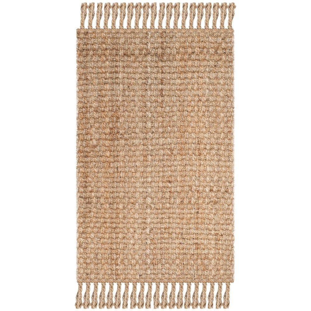 Natural Fiber Cove Jute Rug with Fringe $14.39