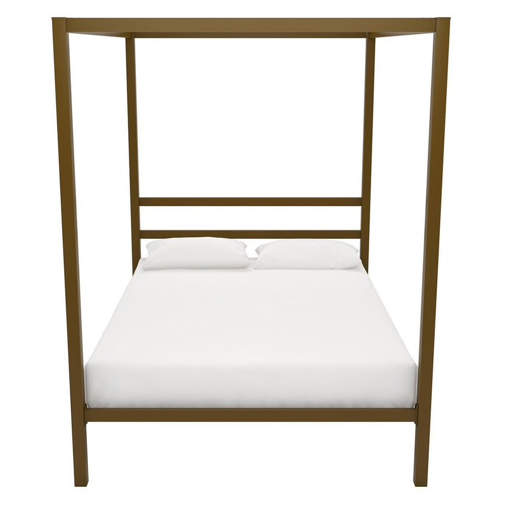 The Curated Nomad Hillard Gold Metal Modern Canopy Bed - Twin $218.49