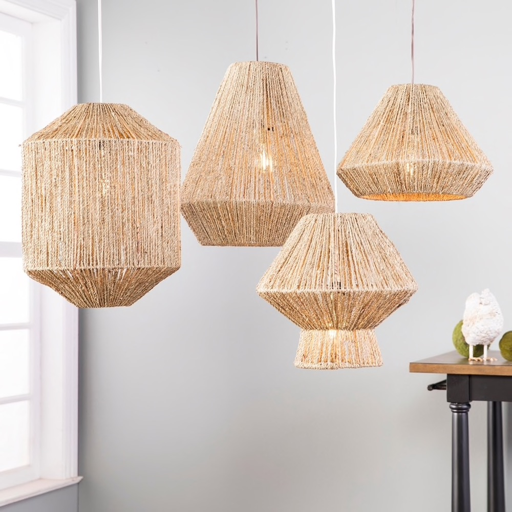 the Curated Nomad Westlake Seagrass 14-inch Pendant Shade $47.69