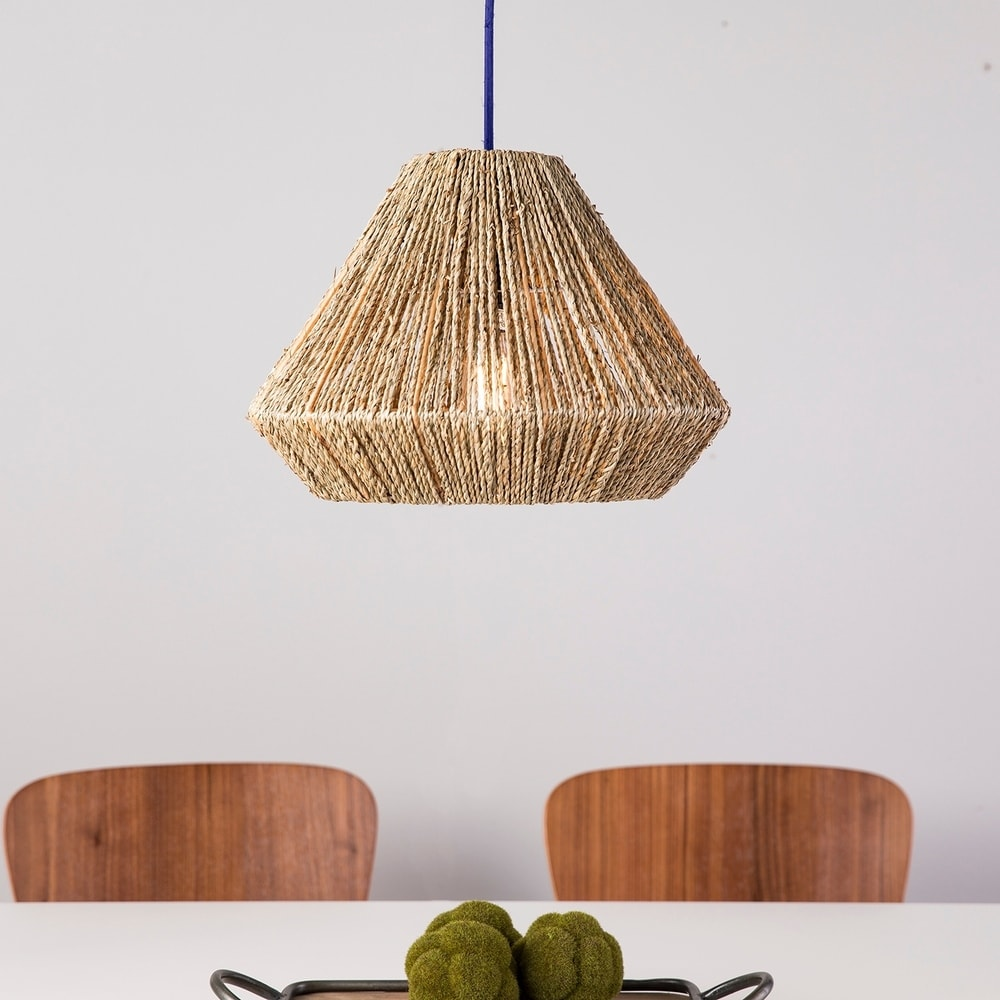The Curated Nomad Westlake Seagrass 15-inch Pendant Shade $53.54